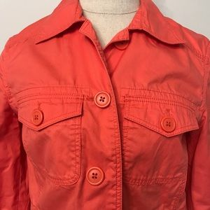 J. Crew Jackets & Coats - 🛍J. Crew orange cotton safari jacket coat size XS